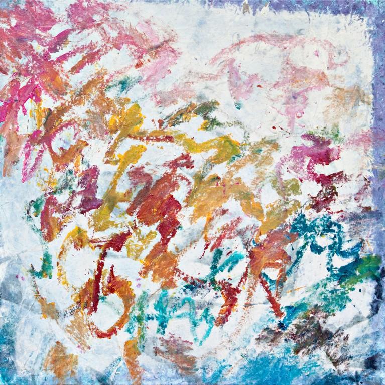 Pablo Manso. OLAS DE MI MEMORIA - mixed media and acrylic on canvas - 2019