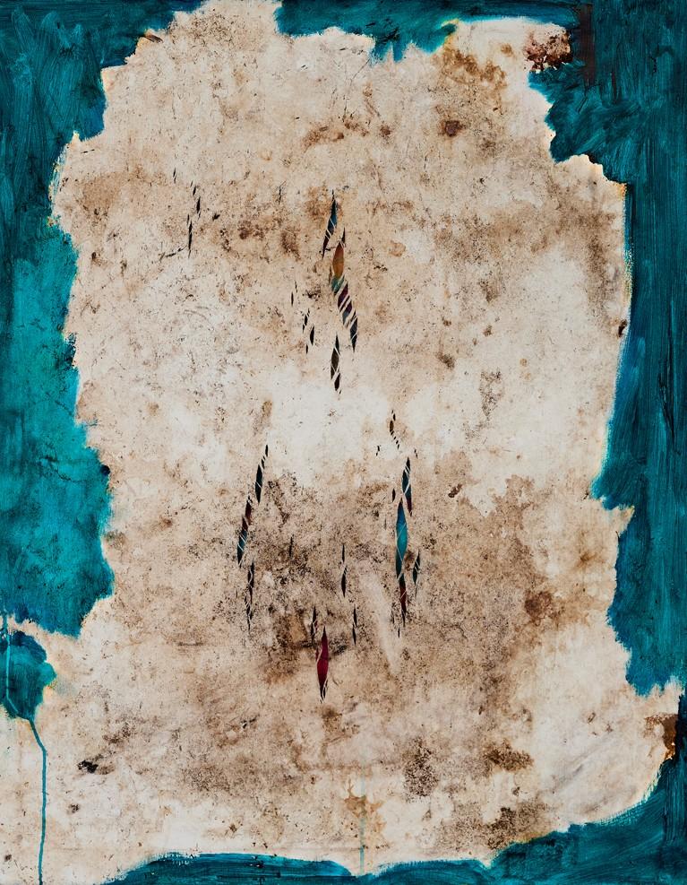 Pablo Manso. LA NUEVA PIEL DEL TIEMPO - mixed media on canvas — 100 cm x 80 cm - 2109