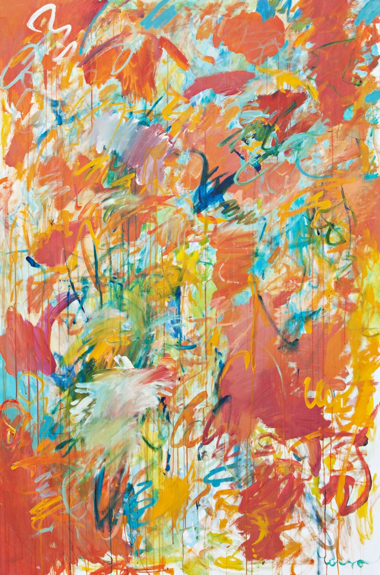 Pablo Manso. �BRETE - Oil on cardboard — 180 cm x 119 cm - 2019