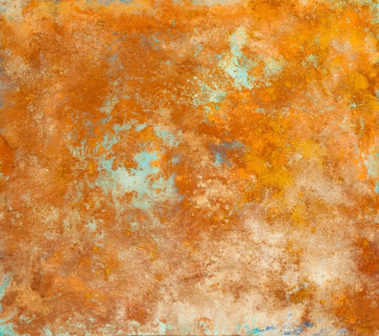 Pablo Manso. LAGUNA CELESTIAL - mixed media on canvas  — 200 x 200 - Diptic — 2018