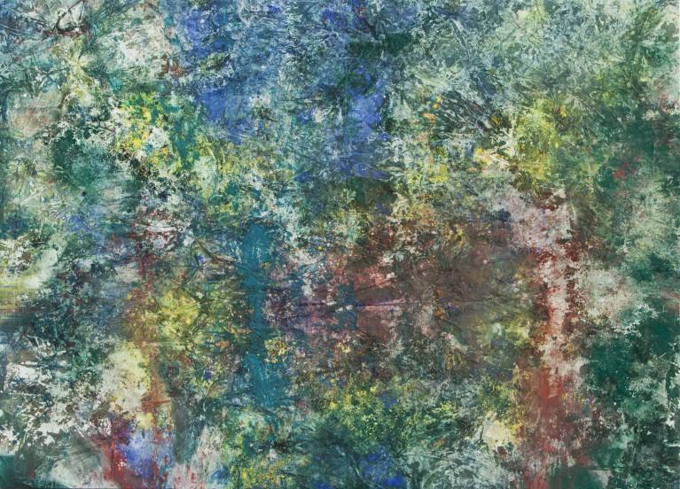Pablo Manso. ECOSYSTEM - Mixed media on canvas — 300 cm x 200 cm - 2018
